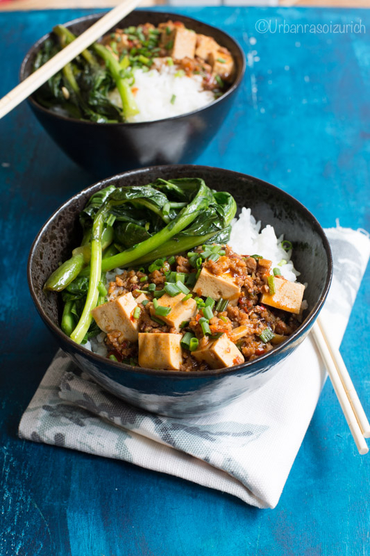 Mapo tofu with rice